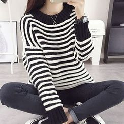 FR - Stripe Chunky Knit Sweater