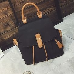 Pandabada - Faux-Leather Backpack