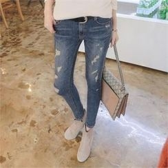 TOM & RABBIT - Distressed Skinny Jeans