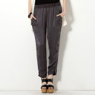 59 Seconds - Elasticized Embroidered Harem Pants