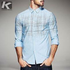 Quincy King - Printed Long-Sleeve Shirt