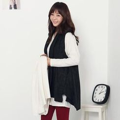 Stylementor - Shawl-Collar Open-Front Vest