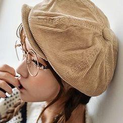 卿本佳人 - 燈芯絨貝蕾帽