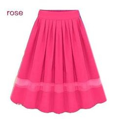 LIVA GIRL - Pleated Chiffon Skirt