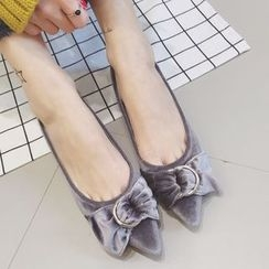 Crystella - Bow Pointy Flats