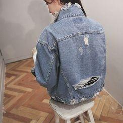 DABAGIRL - Distressed Denim Jacket