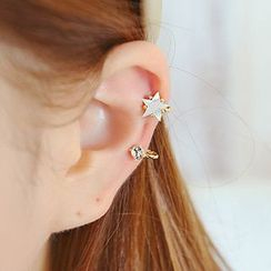 maxine - Rhinestone Star Single Earring