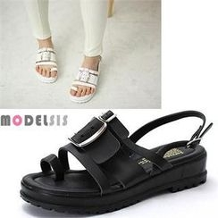 MODELSIS - Buckled Strap Sandals