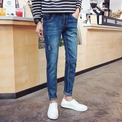 Breeson - Distressed Slim-Fit Jeans