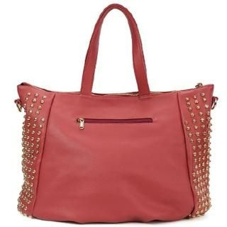 Life 8 - Genuine-Leather Studded Tote