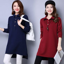 Supernova - Polo Collar Long-Sleeve Tunic