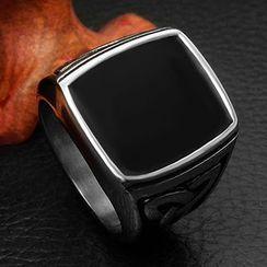Andante - Titanium Steel Signet Ring
