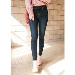 J-ANN - Washed Skinny Jeans