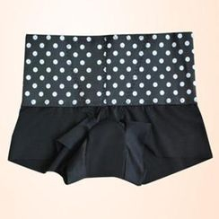 Giselle Shapewear - 黑白波點寬邊內褲
