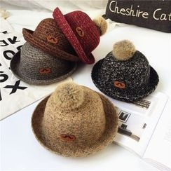 Pompabee - Cable Knit Bowler Hat