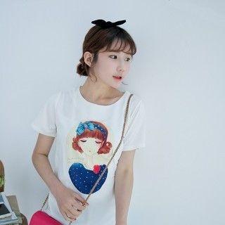 YOZI - Short-Sleeve Printed T-Shirt