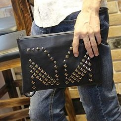 Brickhouse - Faux Leather Studded Clutch