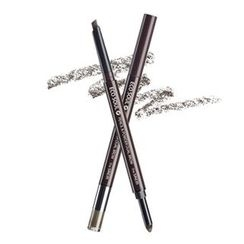 The Saem - Eco Soul Pencil & Powder Dual Brow (#02 Deep Brown)
