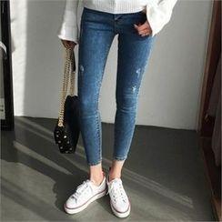 QNIGIRLS - Washed Skinny Jeans