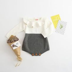 Cuckoo - Baby Two Tone Knit Bodysuit