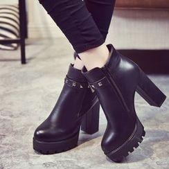 楊董 - 高跟鉚釘及踝靴