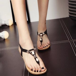 MANMANNI - Metal-Accent Thong Sandals