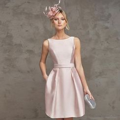 Royal Style - Sleeveless Open Back Party Dress