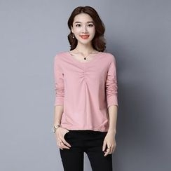 Romantica - Long-Sleeve Shirred Top
