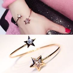 EPOQ - Rhinestone Star Open Bangle