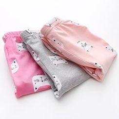 貝殼童裝 - 小童貓咪印花褲