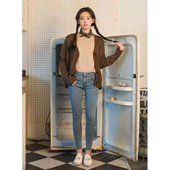 icecream12 - Washed Skinny Jeans