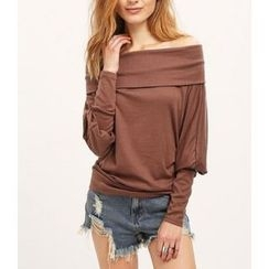 Dream a Dream - Off Shoulder Long Sleeve T-Shirt