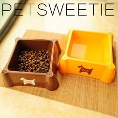 Pet Sweetie - Square Dog Bowl - Medium