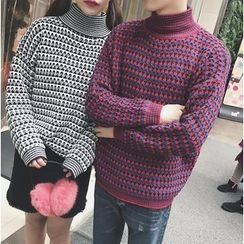 Bestrooy - Couple Matching High Neck Sweater