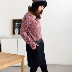 59 Seconds - Mélange Knit Panel Dress