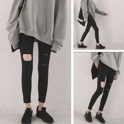 Doyle - Distressed Slim Leggings