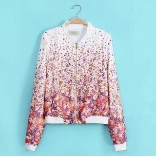 JVL - Floral Zip Jacket