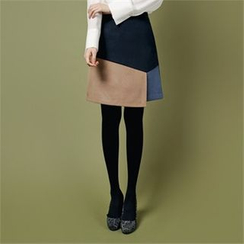 Styleberry - Color-Block A-Line Skirt