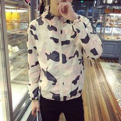 Hansler - Hooded Camouflage Print Light Jacket