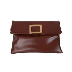 DABAGIRL - Buckled Flap Faux-Leather Clutch