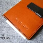 YOURS - Two-Tone Customizable Genuine Leather Passport Holder