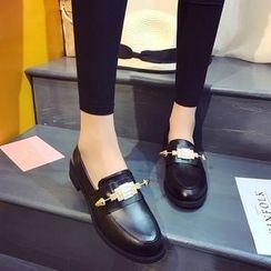MANMANNI - 拼接樂福鞋