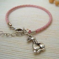 MyLittleThing - Pinky Bunny Leather Bracelet