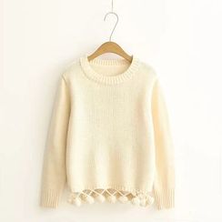 Moricode - Bobble Hem Knit Top