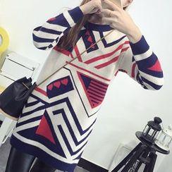 FR - Patterned Long Sweater