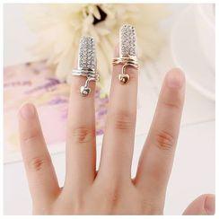 Glamiz - Rhinestone Nail Ring