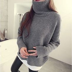 lilygirl - Stand Collar Sweater