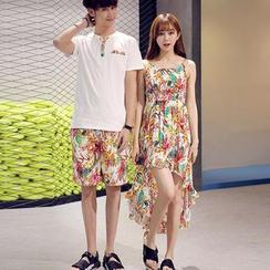 Proemio - 套装; 短袖上衣 + 碎花短裤 / 沙滩裙
