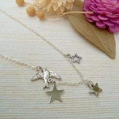 MyLittleThing - Star & Pigeon Necklace