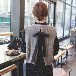 mimi&didi - Sleeveless Tie-Back Rib-Knit Top